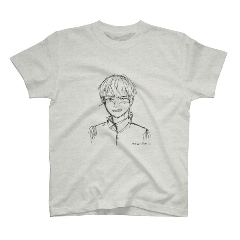 satomimitsukiの照れる少年 ラフ T-shirts