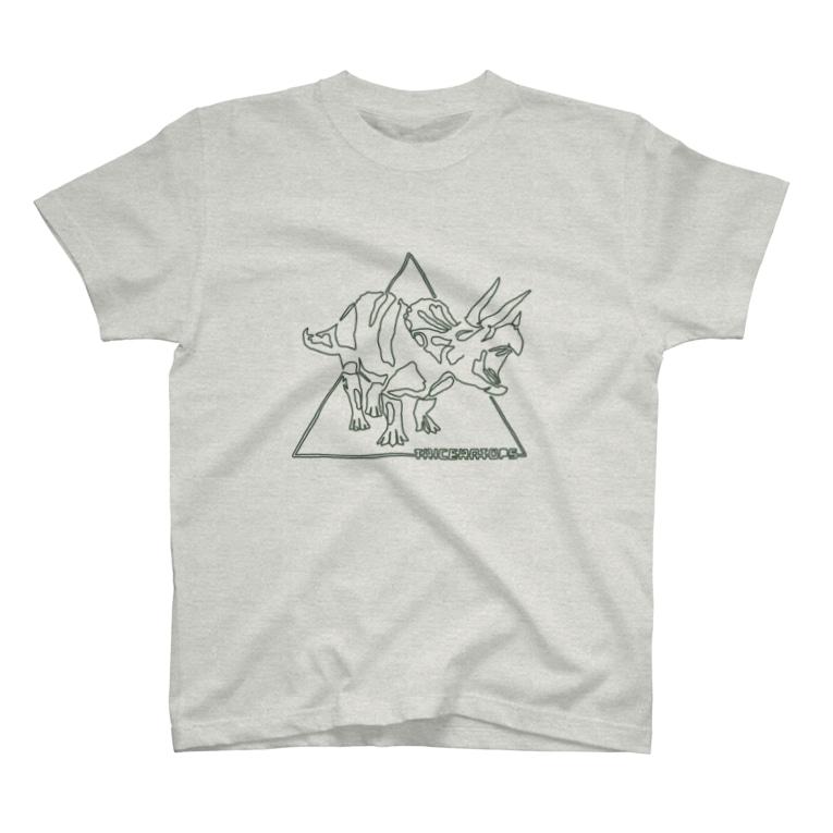 familookのトリケラトプス T-Shirt