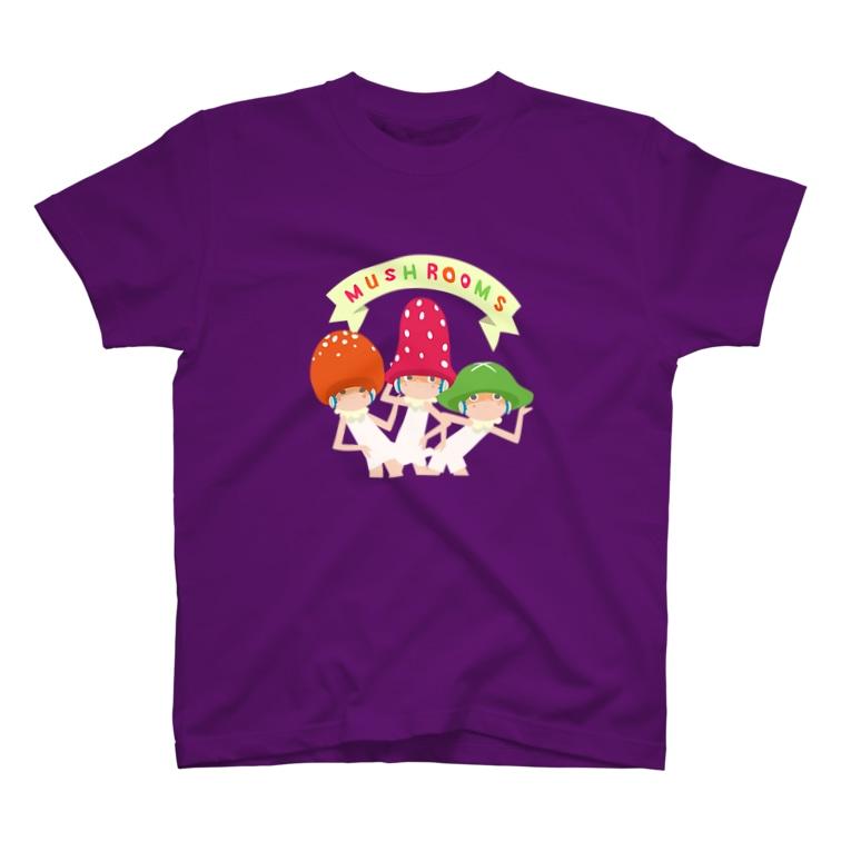 maruco_marcheのMUSHROOMS! T-shirts
