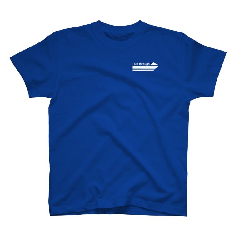 bou_design_inoの目指せ、ミニ四チャンピオンレーサー(青) T-shirts
