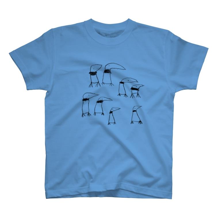 PM商店のアゴヒモペンギンの群れ T-shirts
