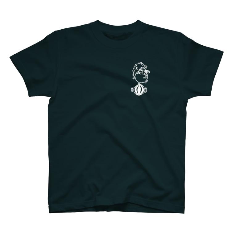 まるコロッ。のウサコロまる・ジャグリング2(小)(線画:白バージョン) T-shirts