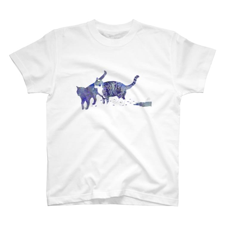 宇宙色ねこ Tシャツ