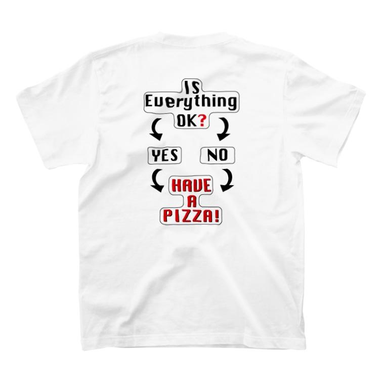 waracbeのchoose ur pizza T-Shirtの裏面