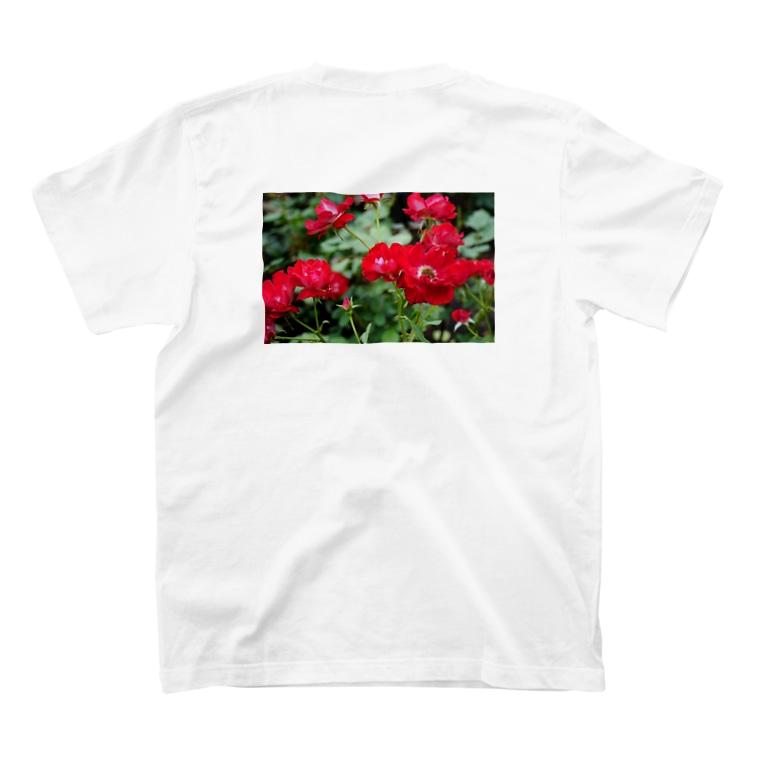ひなの花(赤) T-Shirtの裏面