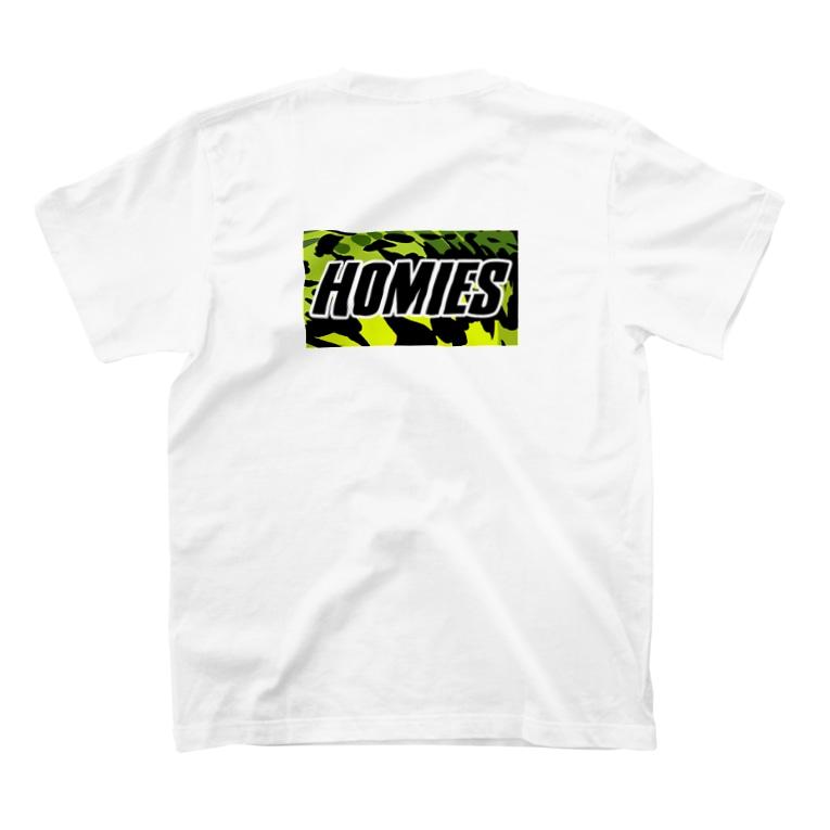 BASSHOMIESのBASSHOMIES(バスホーミーズ)ブラックバス柄ミリタリー風バックプリント T-shirtsの裏面