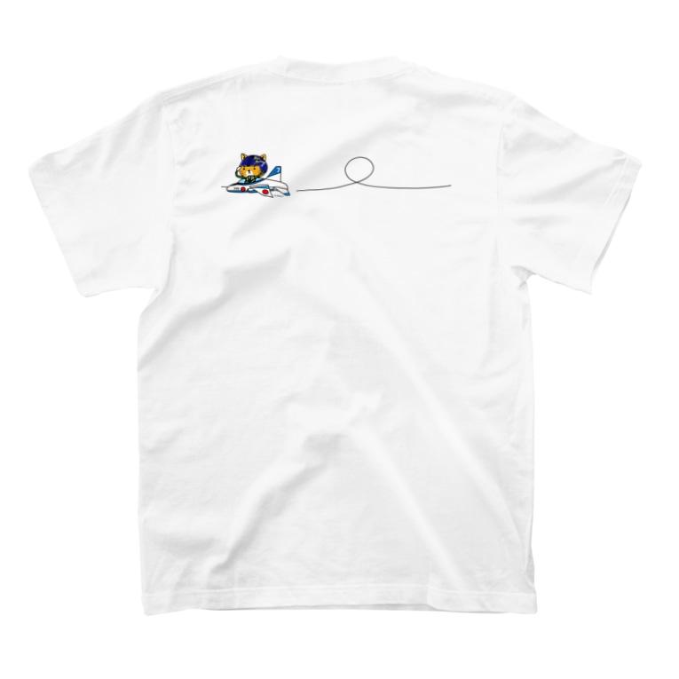 hitohana*+α《ヒトハナ+α》のブルーニャンパルス T-shirtsの裏面