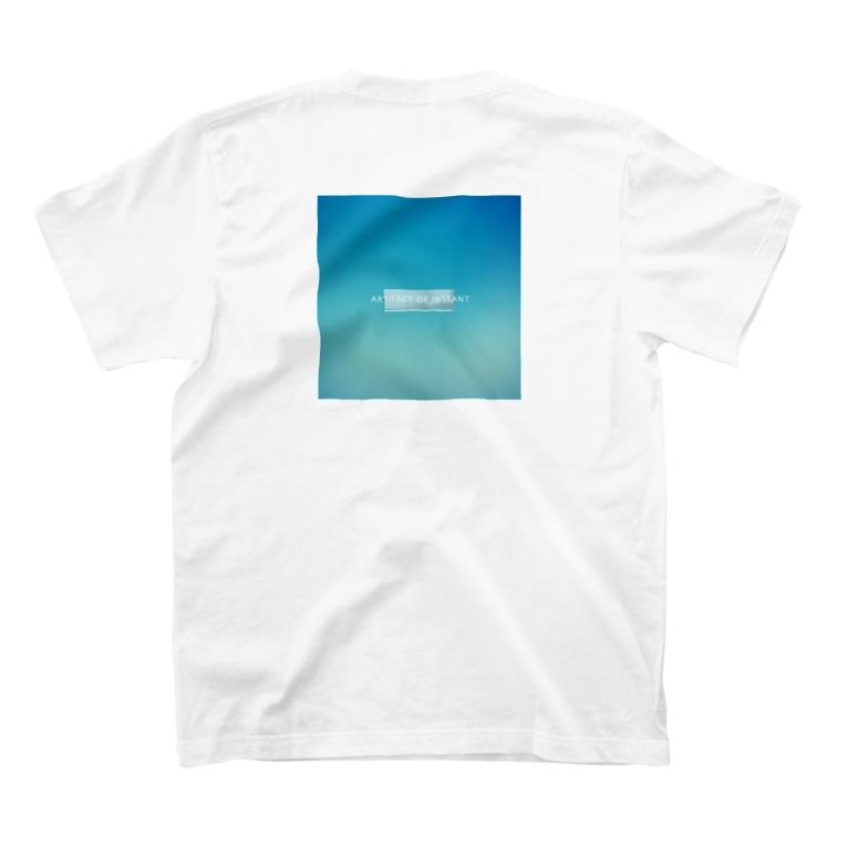 "ARTIFACT OF INSTANTの""SAEKO"" design 正方形背面ティー  T-shirts"