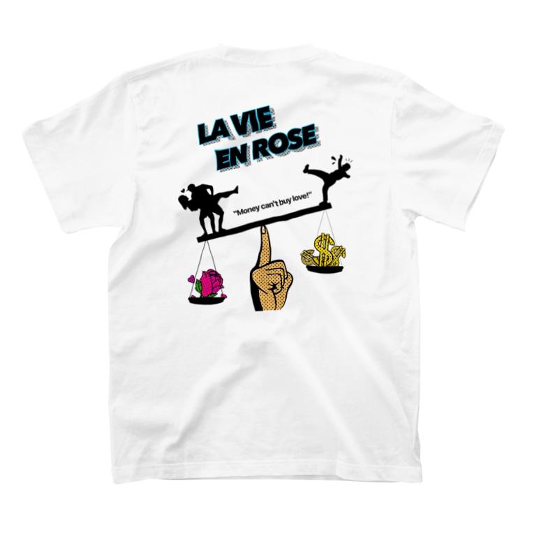 la vie en roseのMoney can't buy love T-shirtsの裏面