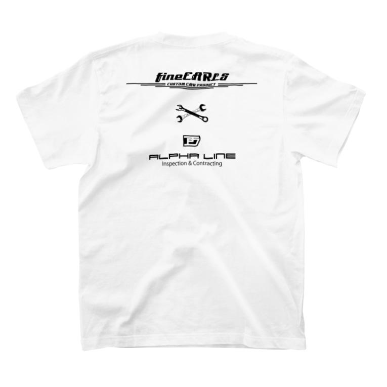 fineEARLS/ファインアールのfineEARLSxALPHALINE_1b T-shirtsの裏面