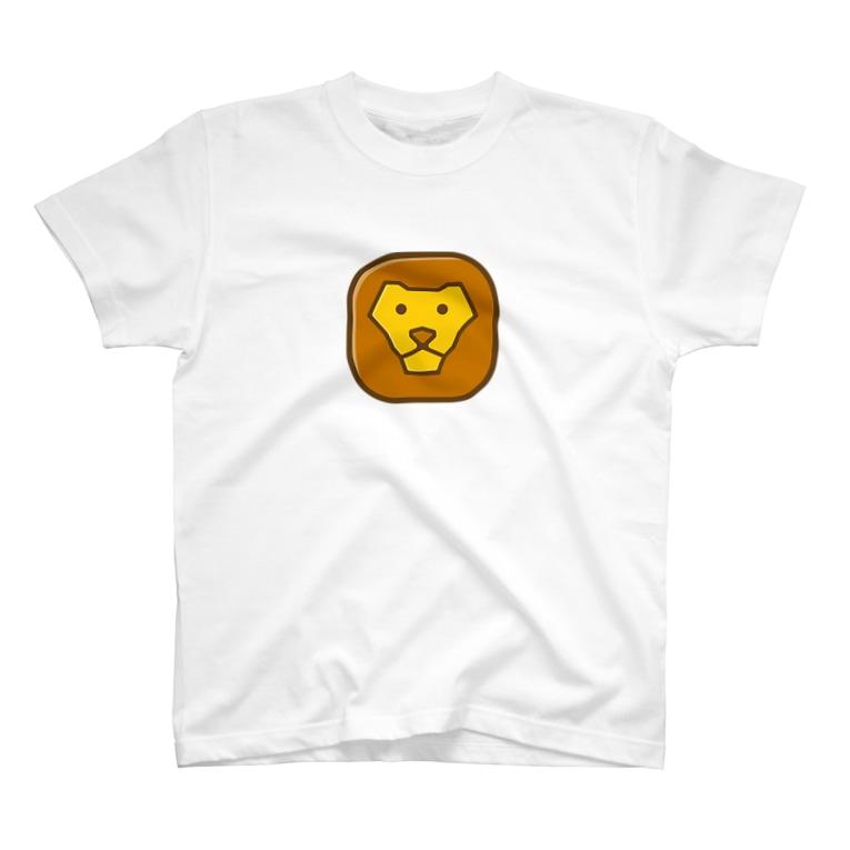 willnetのSavanna lion face T-shirts