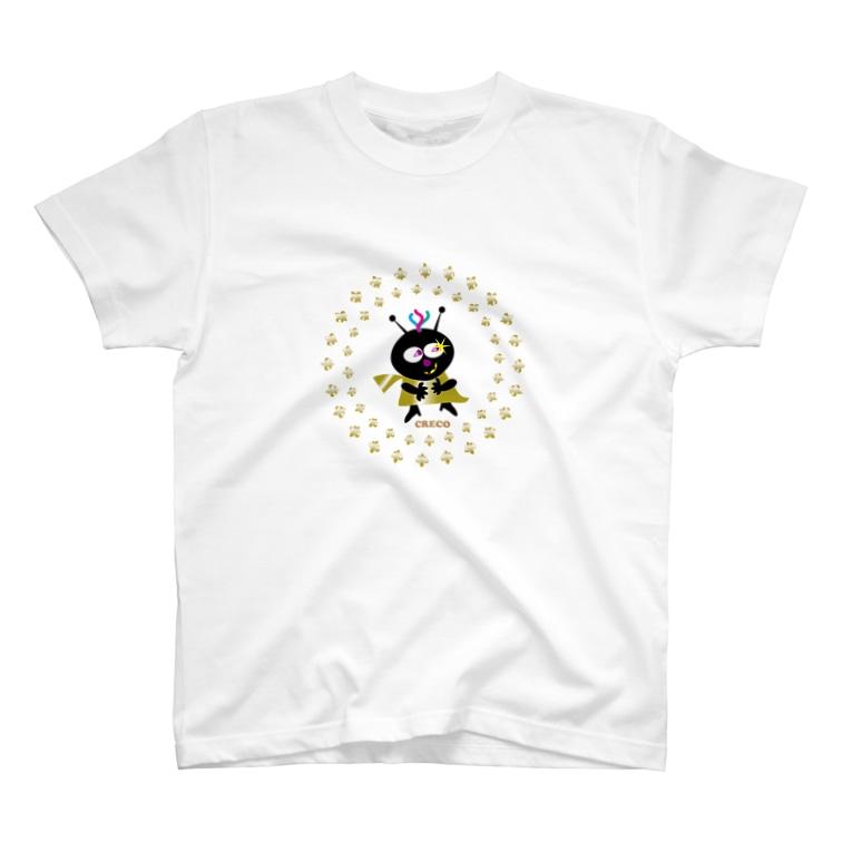 ジルトチッチのデザインボックスのちょい悪クレコちゃんのニタッ笑い T-shirts