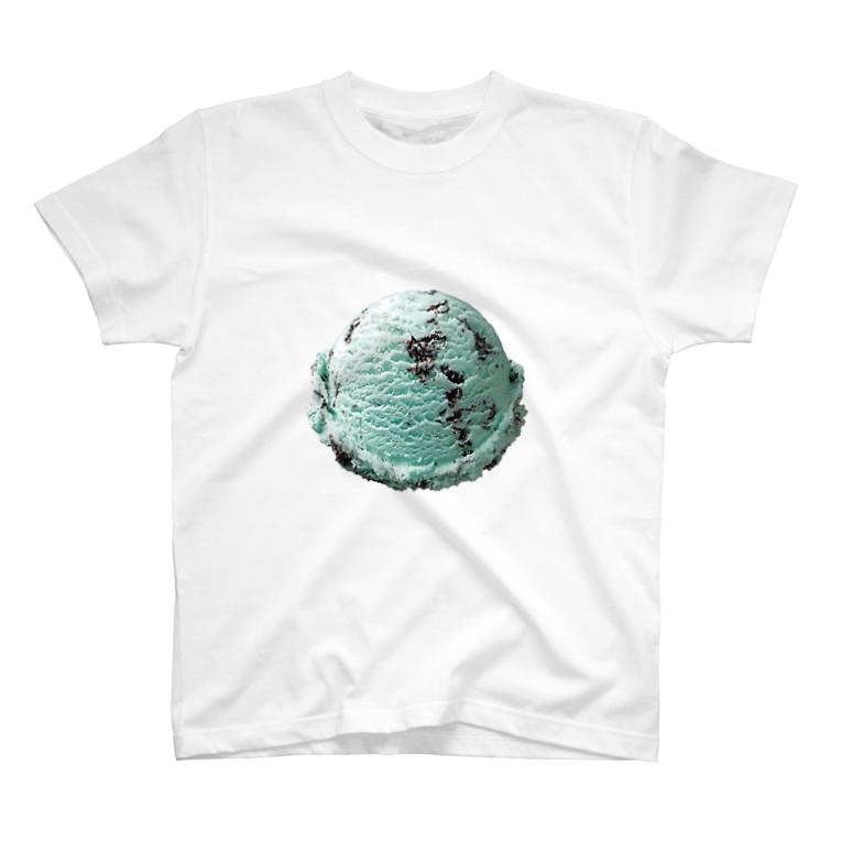 madeathのチョコミントアイスアイテム T-shirts
