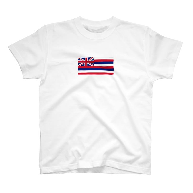 美々野くるみ@金の亡者のハワイ 州旗 T-shirts