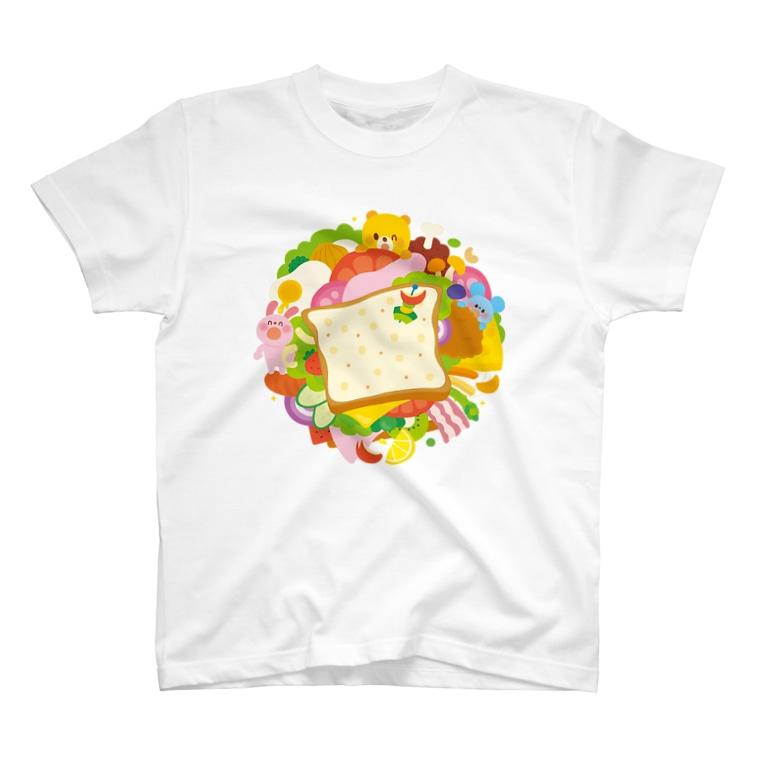 Illustrator イシグロフミカのサンドイッチ T-shirts