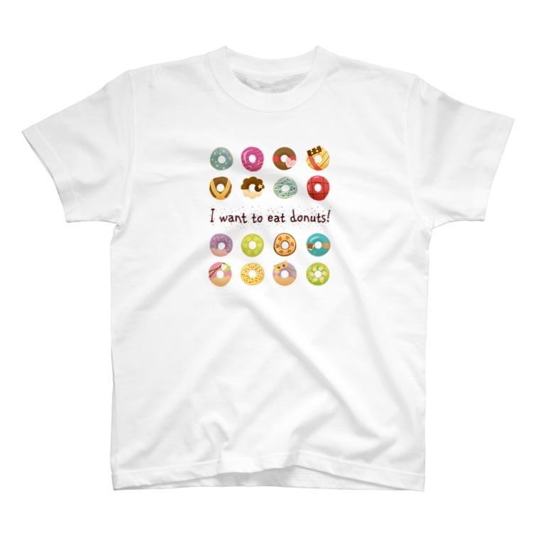 モモタロ工房のカラフルドーナツ T-Shirt