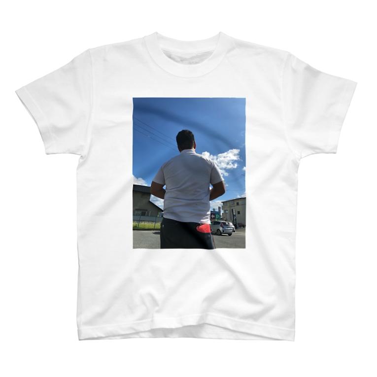 股間で日本を盛り上げ隊 公式販売所の清水先輩の背中シリーズ T-shirts