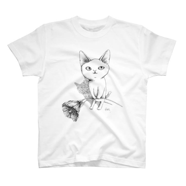 まりみゆきのシロネコ宅急便 T-shirts
