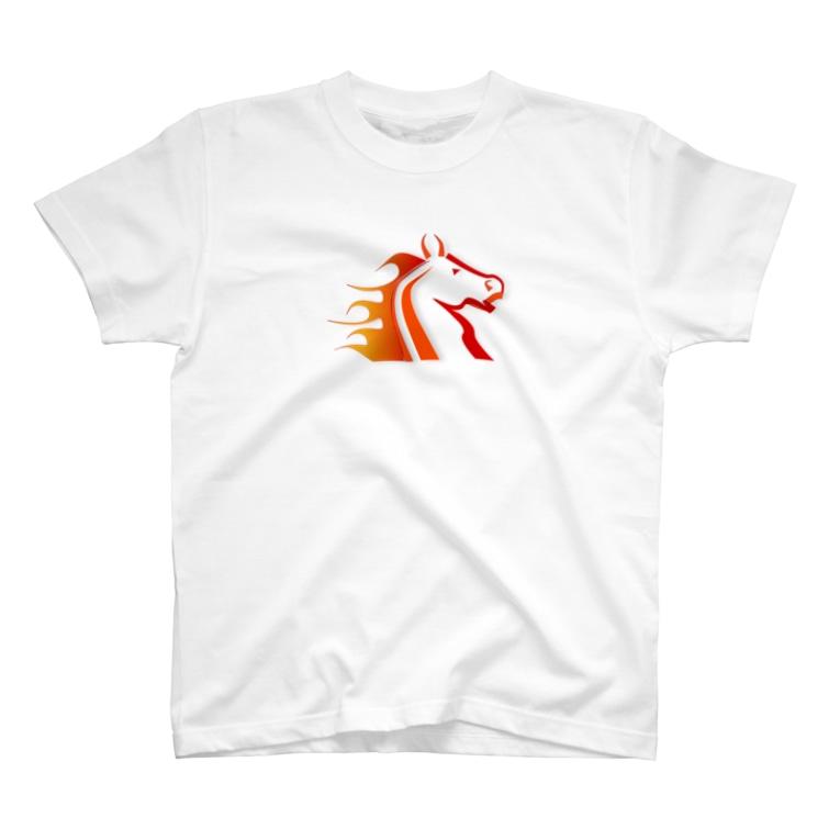 BBdesignの馬6 T-shirts