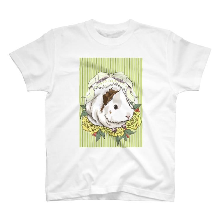 Lichtmuhleのレジメンタルストライプ×モルモット(緑) T-shirts