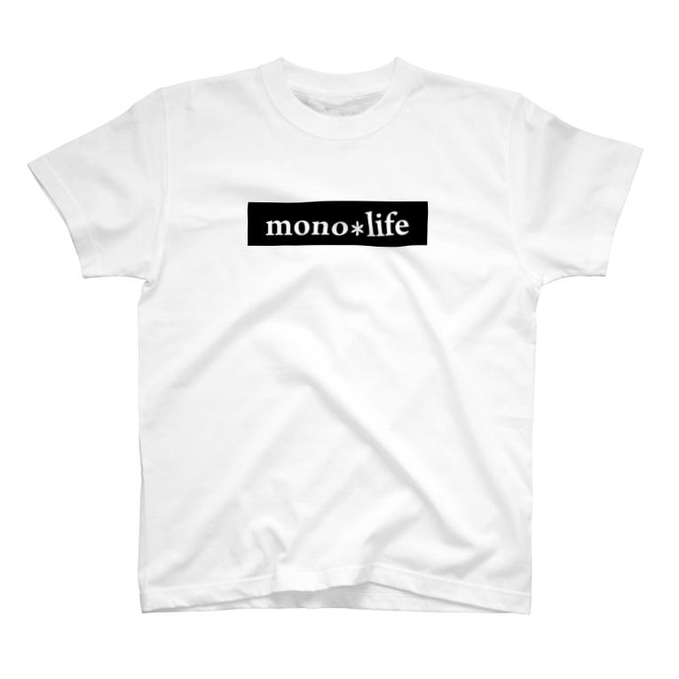 キャンプバカヤロウのmono*lifeグッズ T-Shirt
