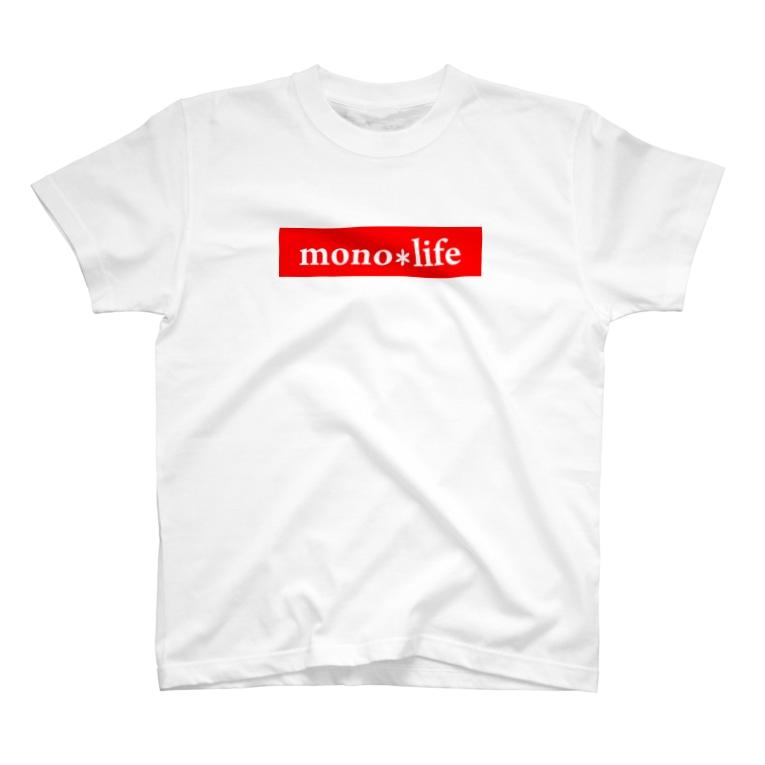 キャンプバカヤロウのmono*life赤 T-Shirt