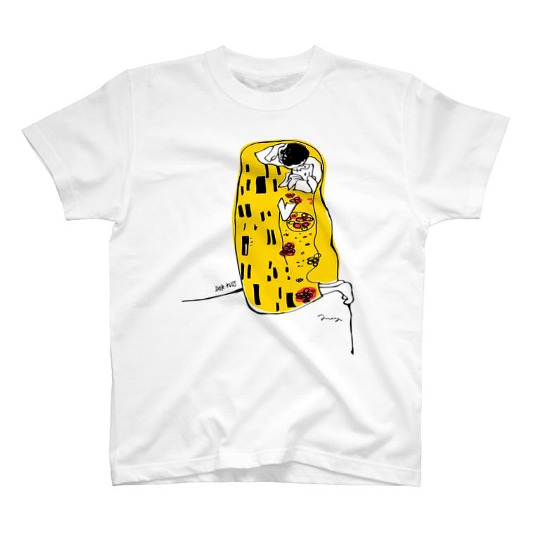 ゆる名画のTシャツ屋さんの接吻 T-shirts