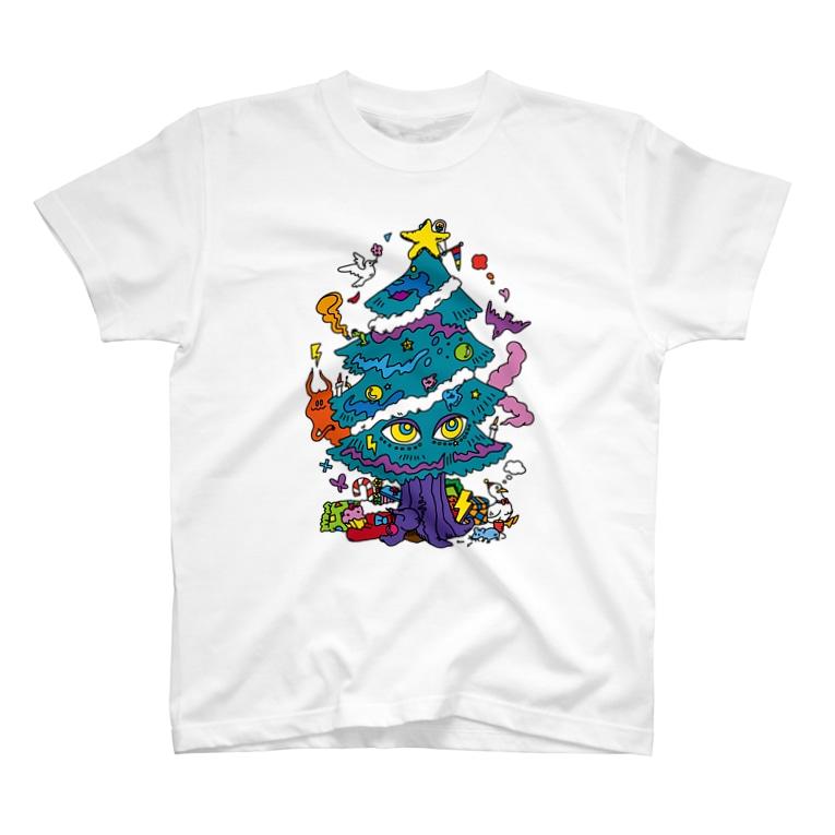 CHEBLOのCALL MOLA 《Christmas tree》 T-shirts