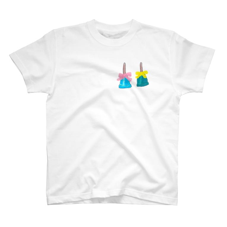 Lily birdのカラフルハンドベル T-shirts