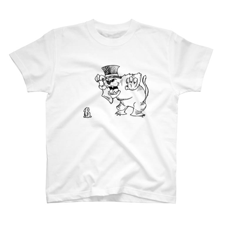 お洒落と個性派の中間地点の強がりたいだけ T-shirts