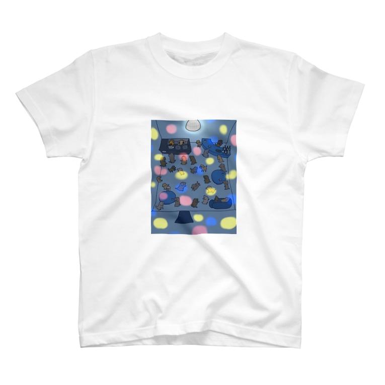 秋うかのサタデー・こいぬ・フィーバー T-shirts
