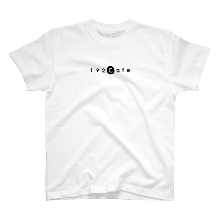 192Cafeの192CafeロゴTシャツ Black T-shirts