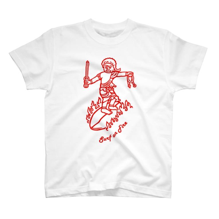 Bo tree teeのSurf(red) T-Shirt