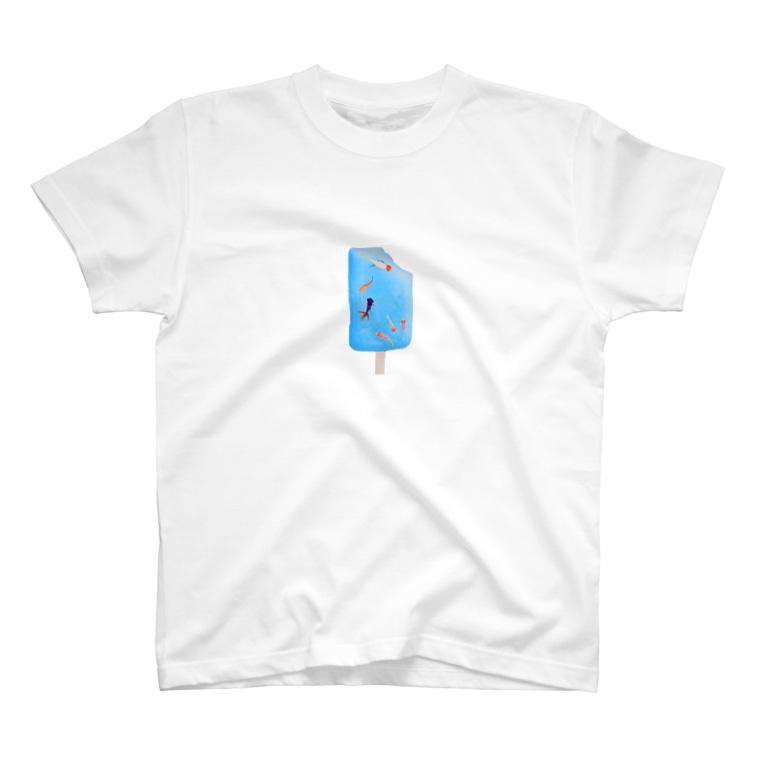 コラーゲンの初夏柄きりぬき T-shirts