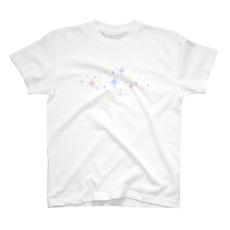 kabitashop.のキラキラパステル T-shirts