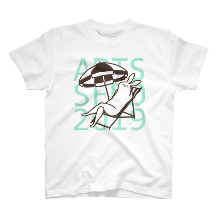 ARTS SEED OKITAMA 2019のASO2019×タドリ 美脚うさぎバカンス T-shirts
