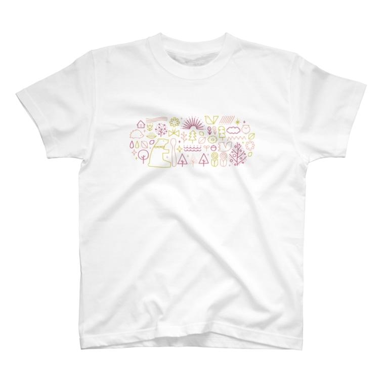 サタケシュンスケ イラストレーターのPICNIC T-shirts