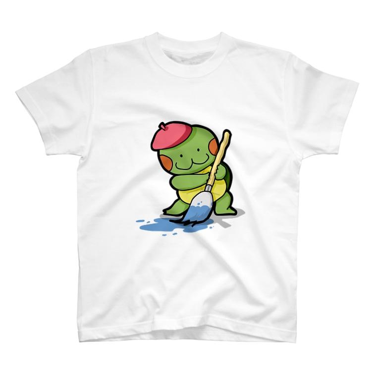 かめ吉のお絵描きかめ吉 T-shirts