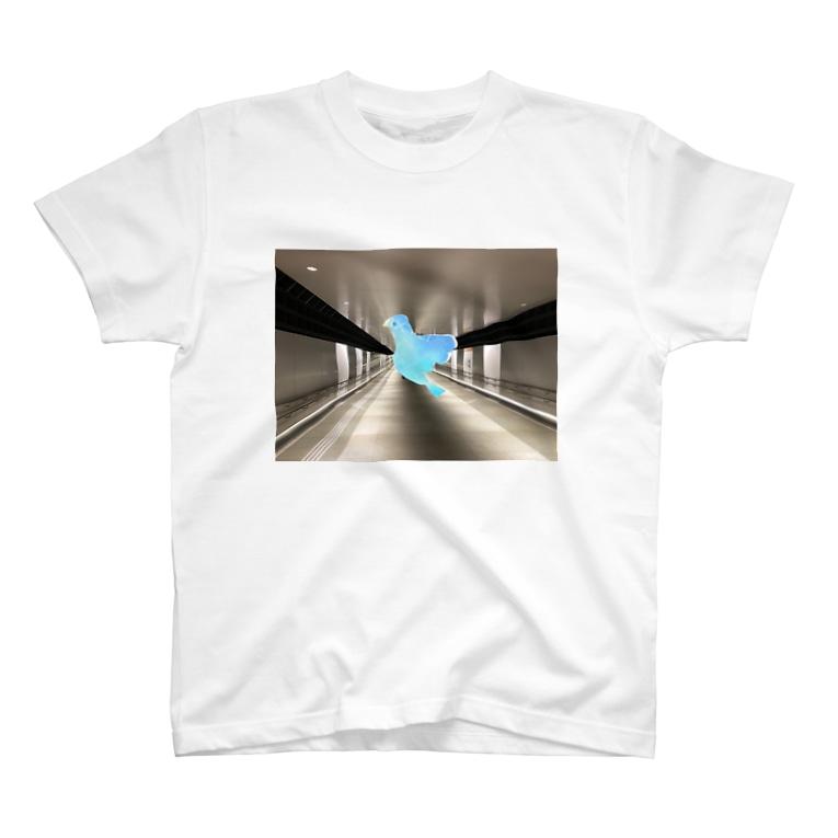 mashimashi7のブルー鳥 T-shirts