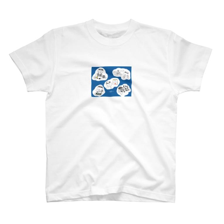 ナガキパーマのサッカーの試合日が待てない T-shirts