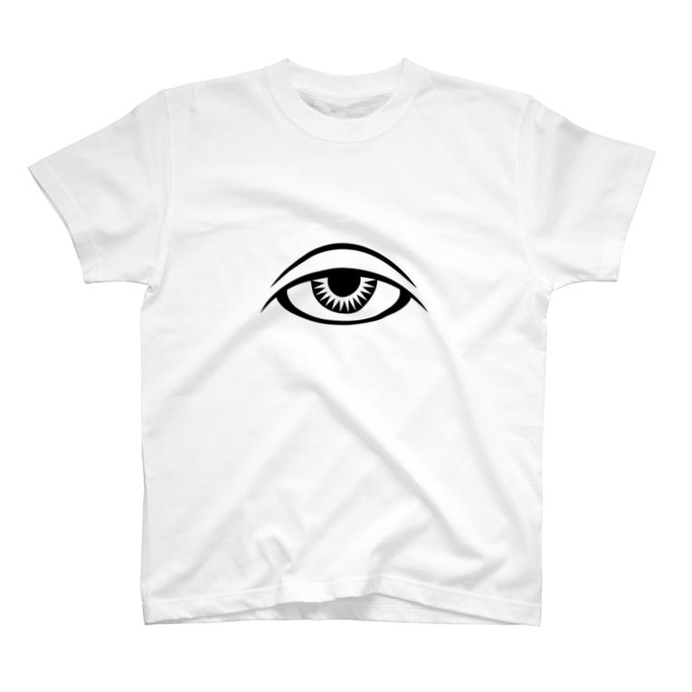 呪術と魔法の銀孔雀の呪術と瞳 T-shirts