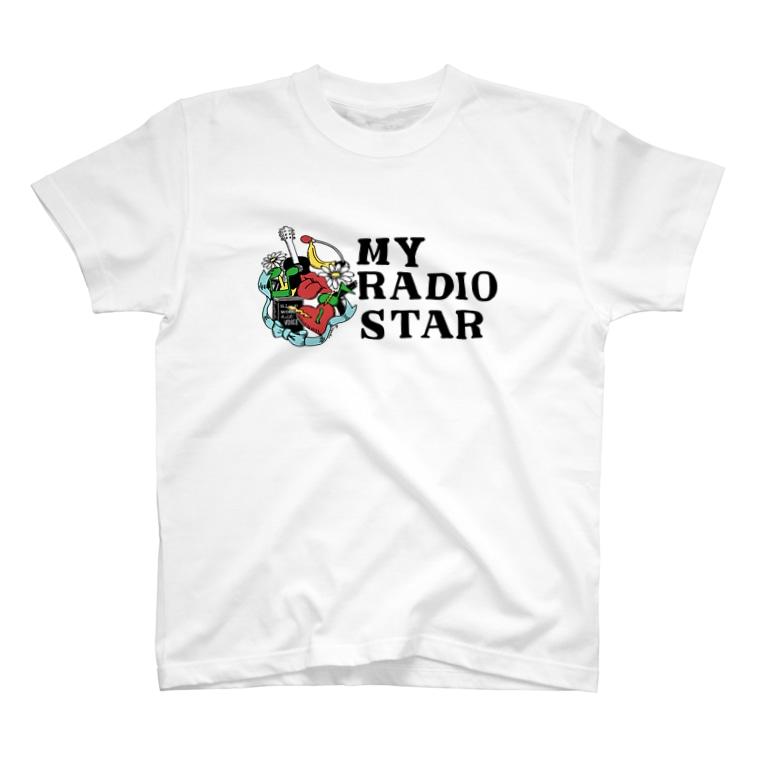 sayako_illustrationのMY RADIO STAR T-shirts