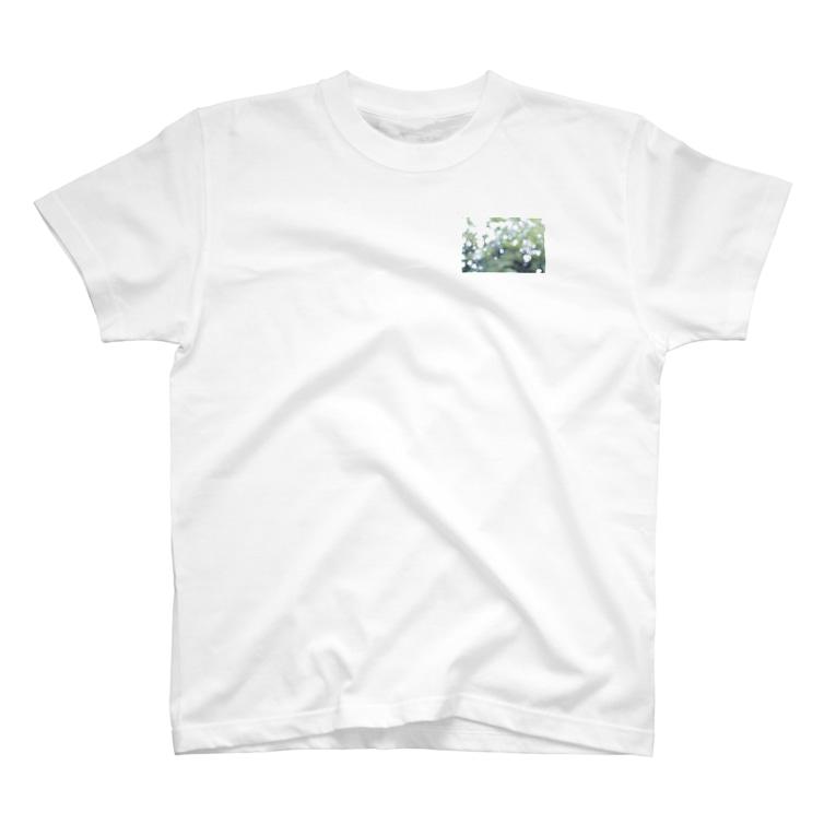 kana_lilyの緑の光の粒 T-shirts