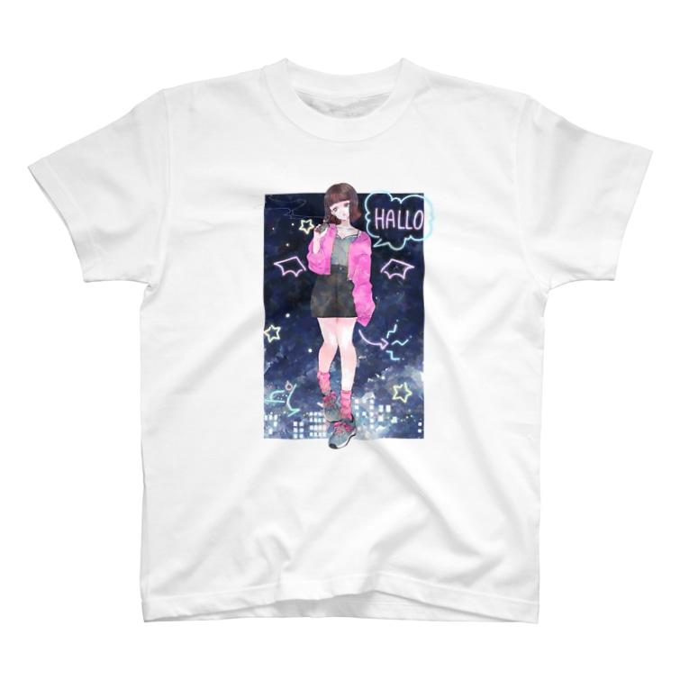 sagarara_raの「あと5分だけ・夜」 T-shirts