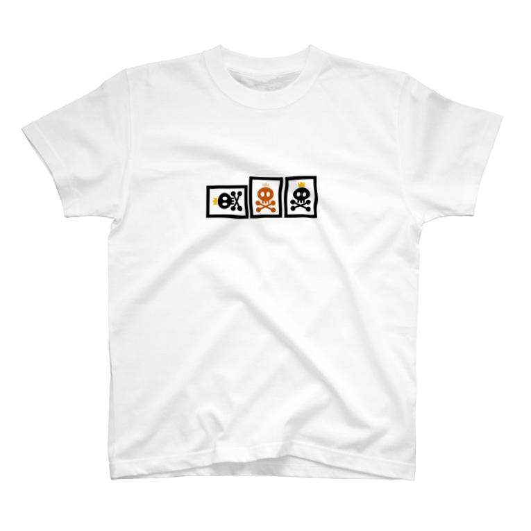 へらやのへらドクロ(赤入り) T-shirts