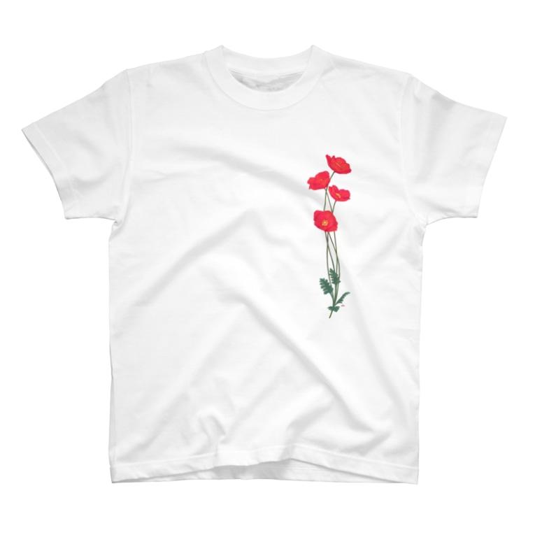 竹条いちいの憂いに手向けるポピー T-Shirt