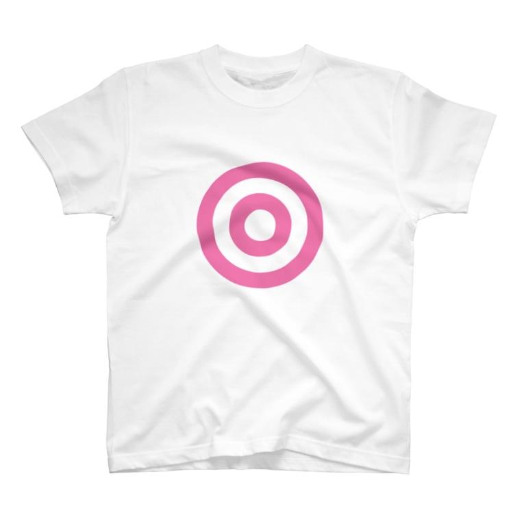 sai3254の蛇の目(ピンク) T-shirts