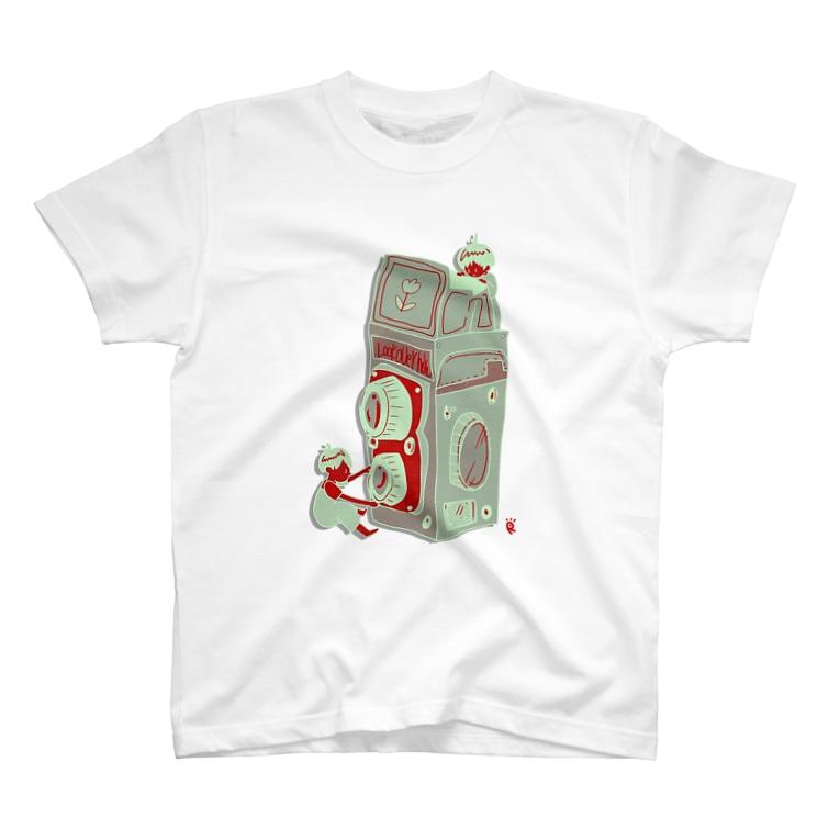 なで肩うさぎの美香堂のCAMERA BOY'S T-shirts