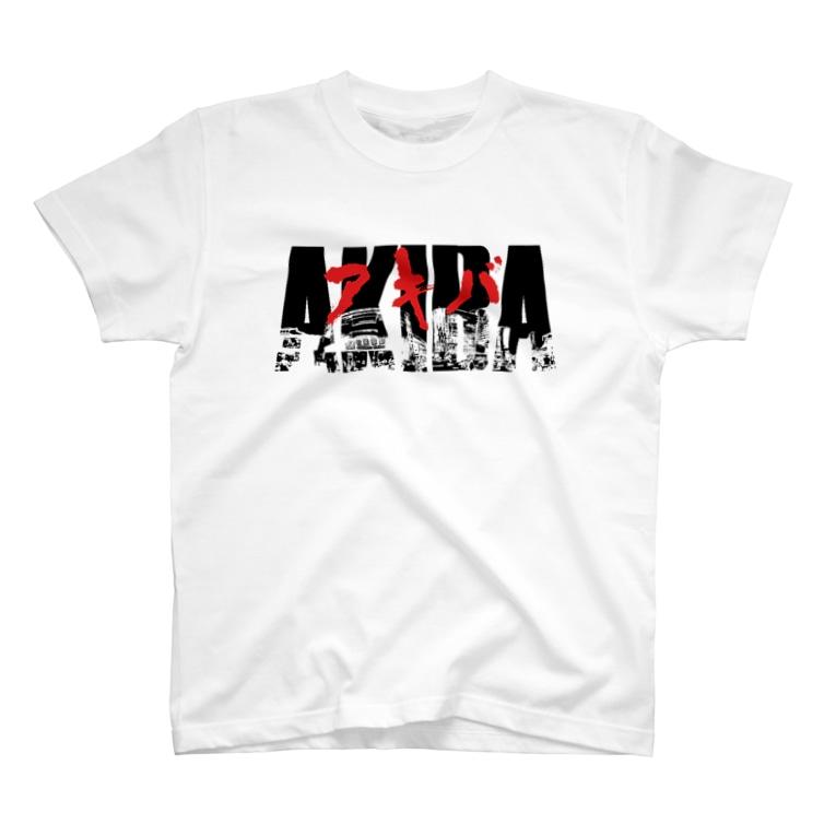 GAMERA3のAKIBA STATION RED T-shirts