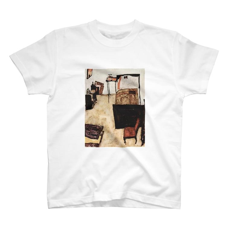 Art Baseのエゴン・シーレ / 1911 /Schiele's Room in Neulengbach / Egon Schiele T-shirts